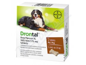 Drontal Dog Flavour XL 525/504/175mg (tbl 2)