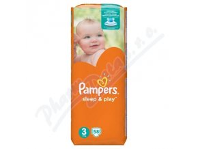 PAMPERS Sleep&Play 3 Midi (58ks)