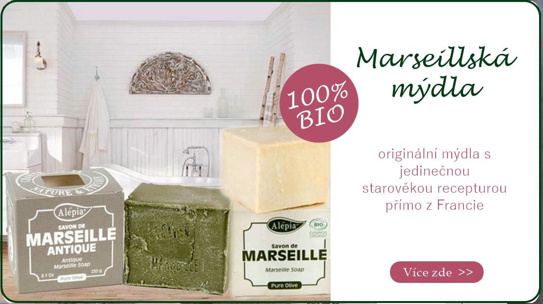 Marseillská mýdla - vyrobena podle jedinečné tradiční receptury