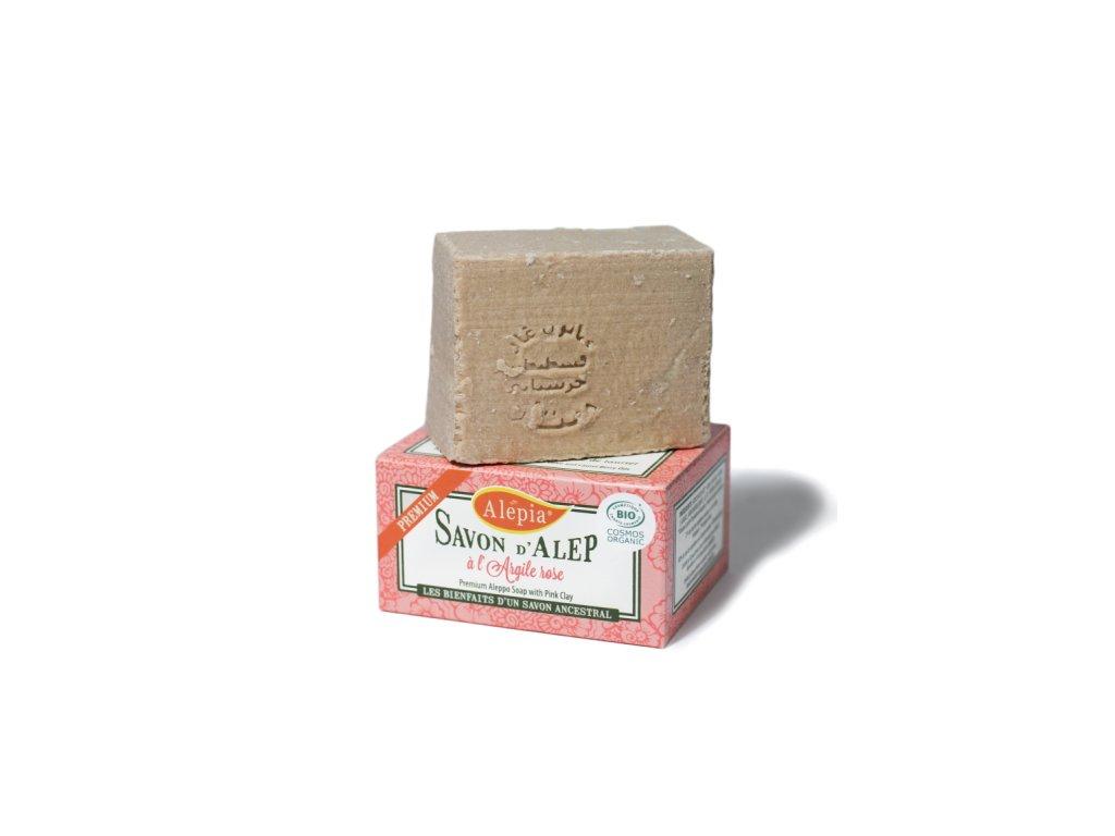Prémiové mýdlo s růžovým jílem 125g