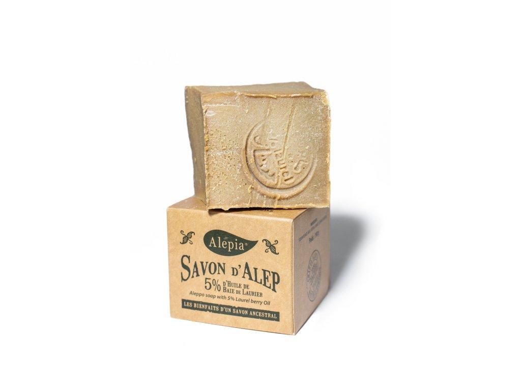 Tradiční 100% přírodní aleppské mýdlo pro normální i citlivou pleť 190 g