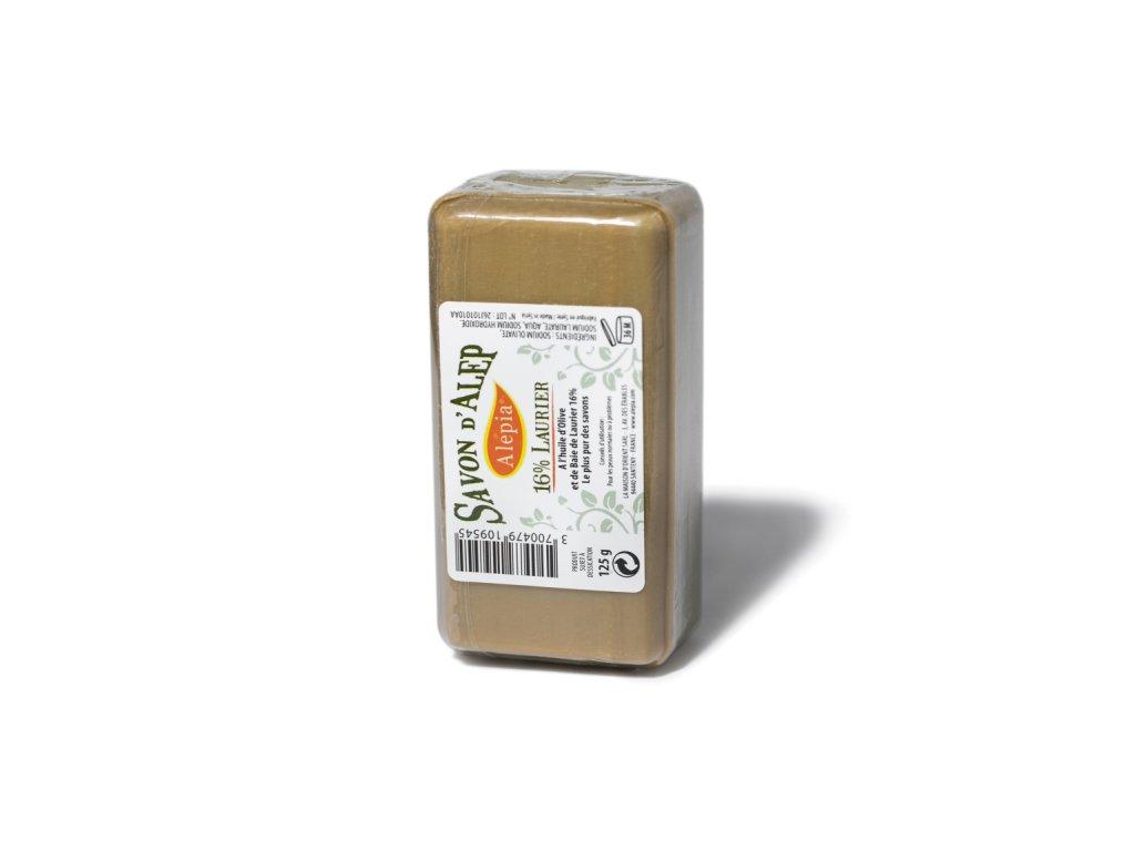 Tradiční aleppské mýdlo s 16 % vavřínového oleje 125 g