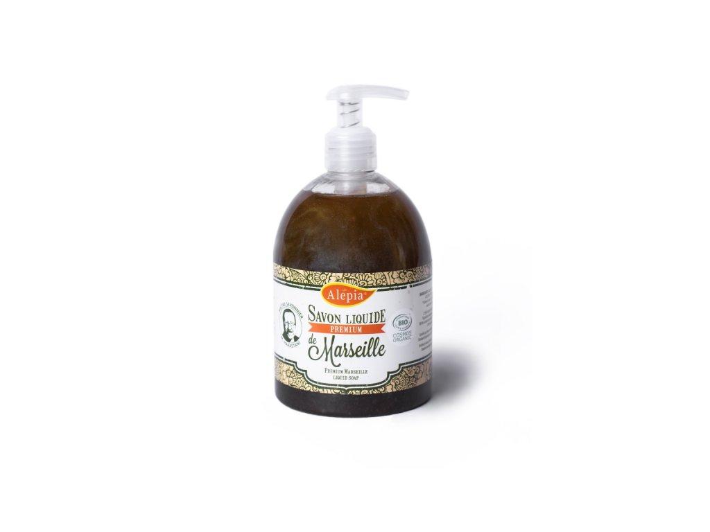 Marseillské mýdlo z olivového oleje tekuté na citlivou pokožku 500 ml