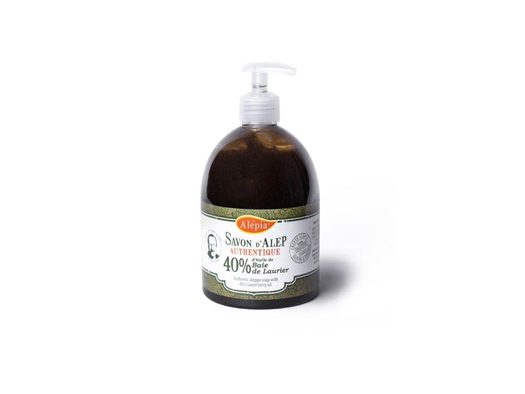 Tekuté antibakteriální BIO mýdlo se 40 % vavřínového oleje na citlivou pleť 500 ml