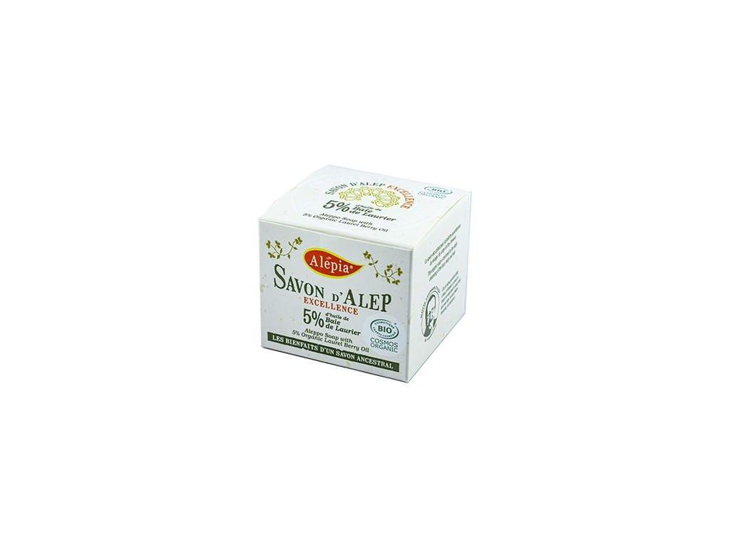 Excelentní  BIO aleppské mýdlo s 1 % vavřínového oleje 190 g