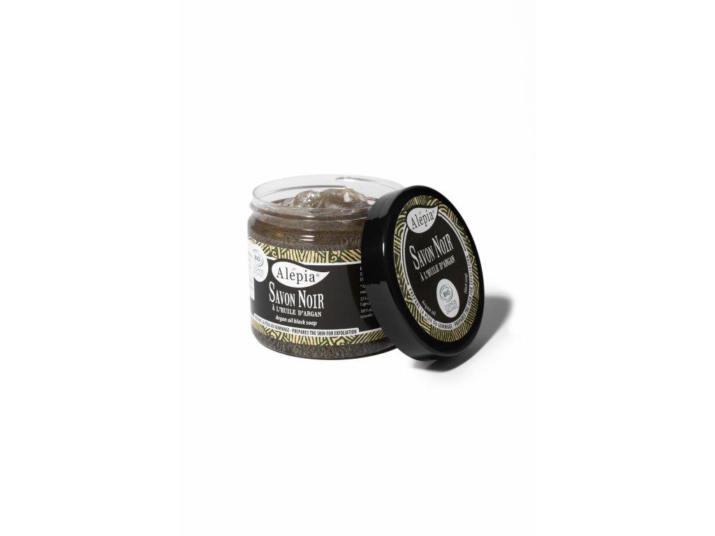 Savon noir peelingové mýdlo s arganovým olejem pro omlazení pleti - 200 ml