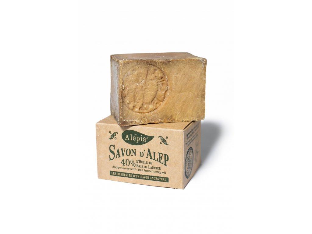 Tradiční aleppské mýdlo se 40 % vavřínového oleje pro citlivou a problematickou pleť 190 g