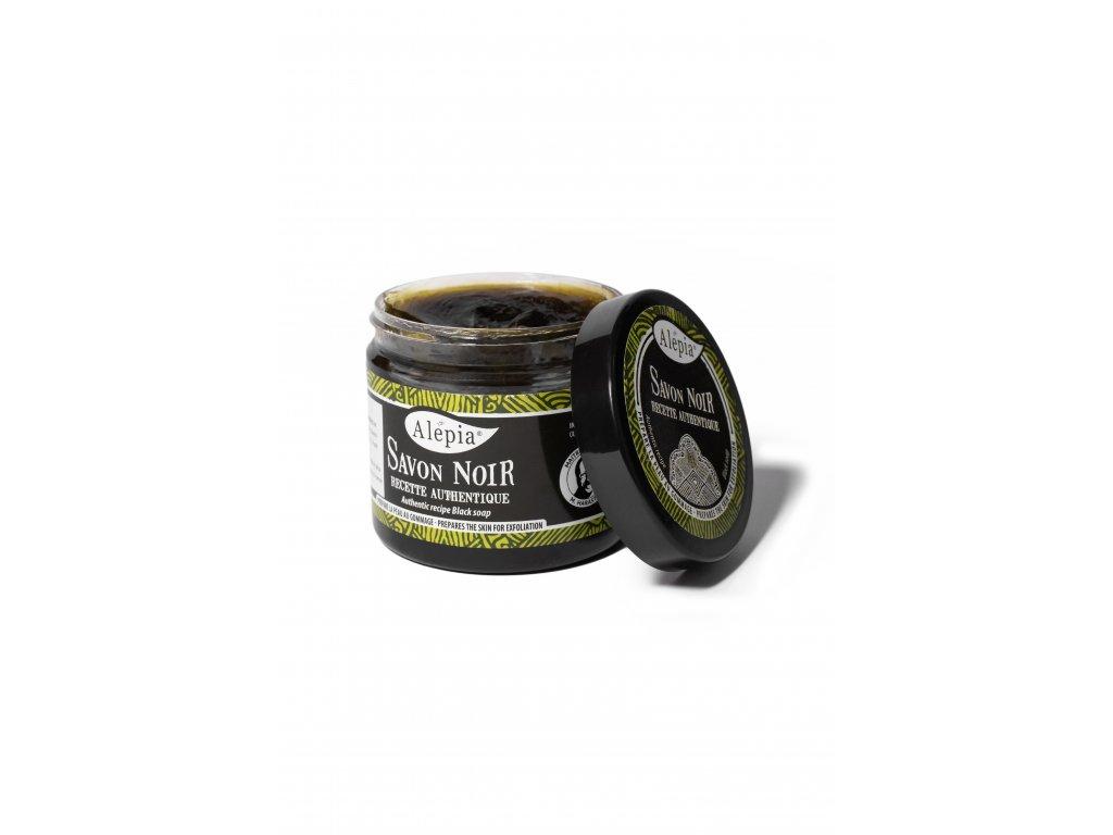 Savon noir černé organické peelingové mýdlo na tělo i obličej - 200 ml
