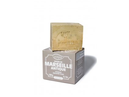 Marseillské čistě rostlinné mýdlo Antique s 72% olivového oleje 230 g