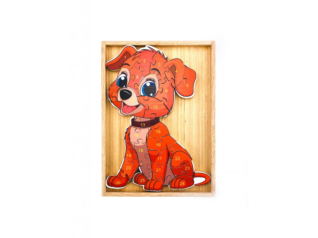Vzdělávací puzzle - Pes