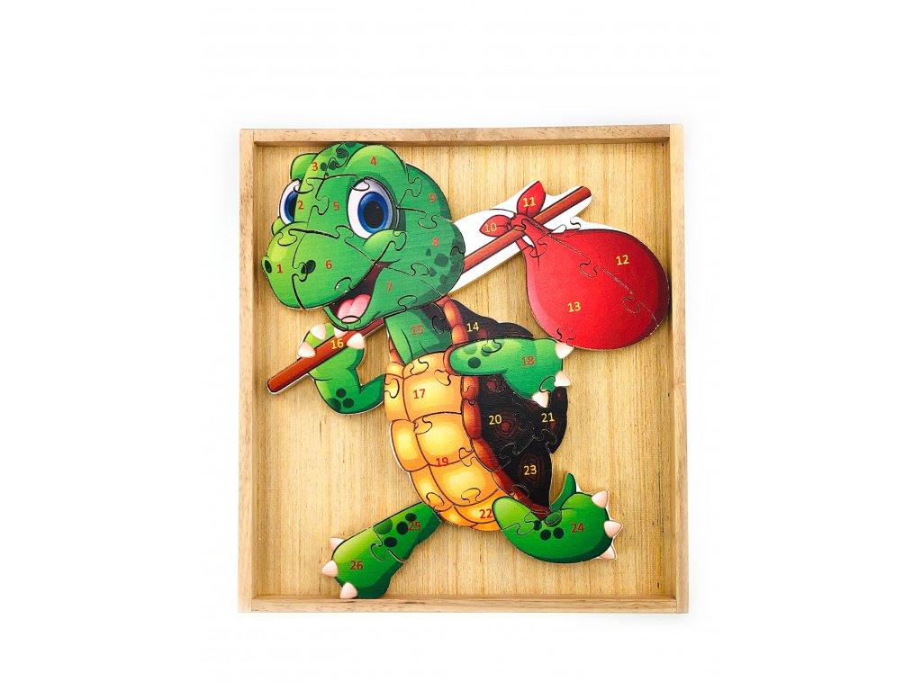 Vzdělávací puzzle - Želva