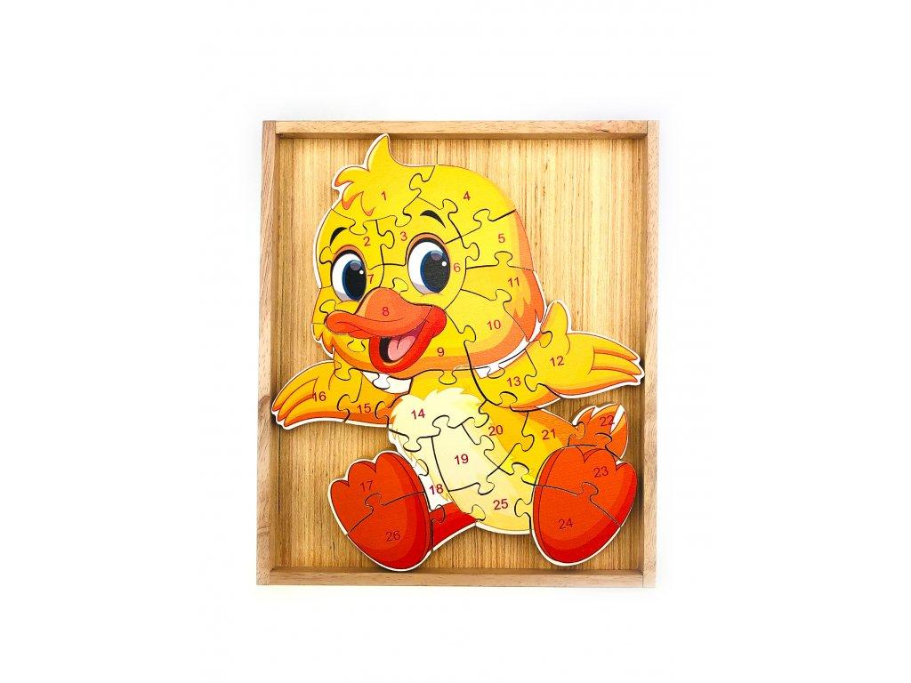 Vzdělávací puzzle - Kuřátko