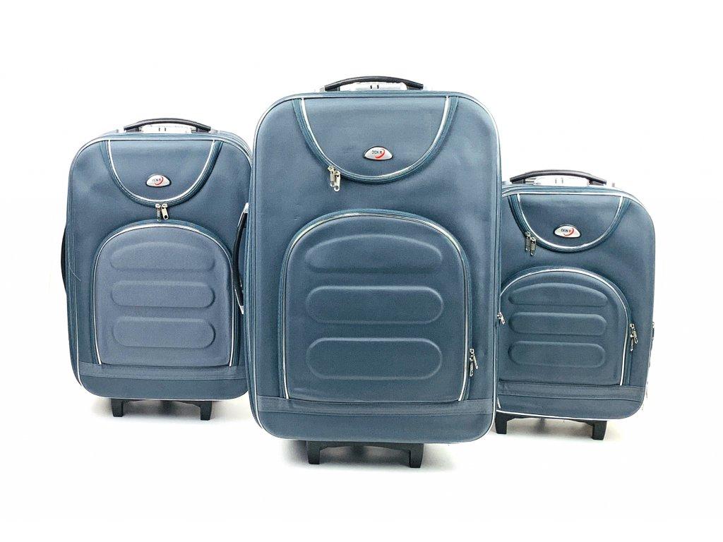 133901 1 cestovni kufr sedy s kompasem sada 3ks