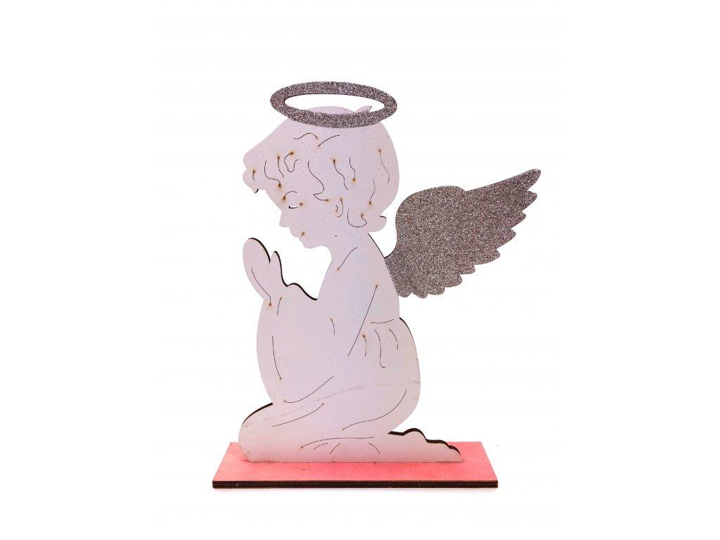 Dřevěná vánoční dekorace - Anděl (30 cm)