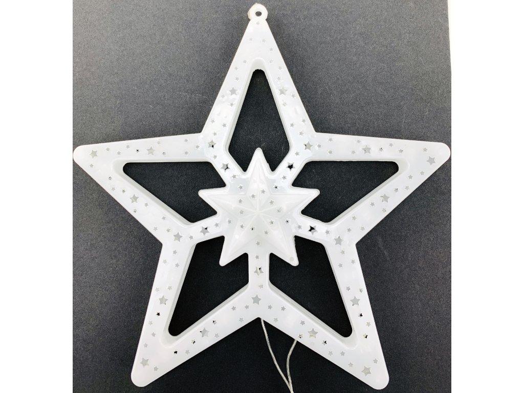 Svítící LED hvězda - teplá bílá (28 cm)