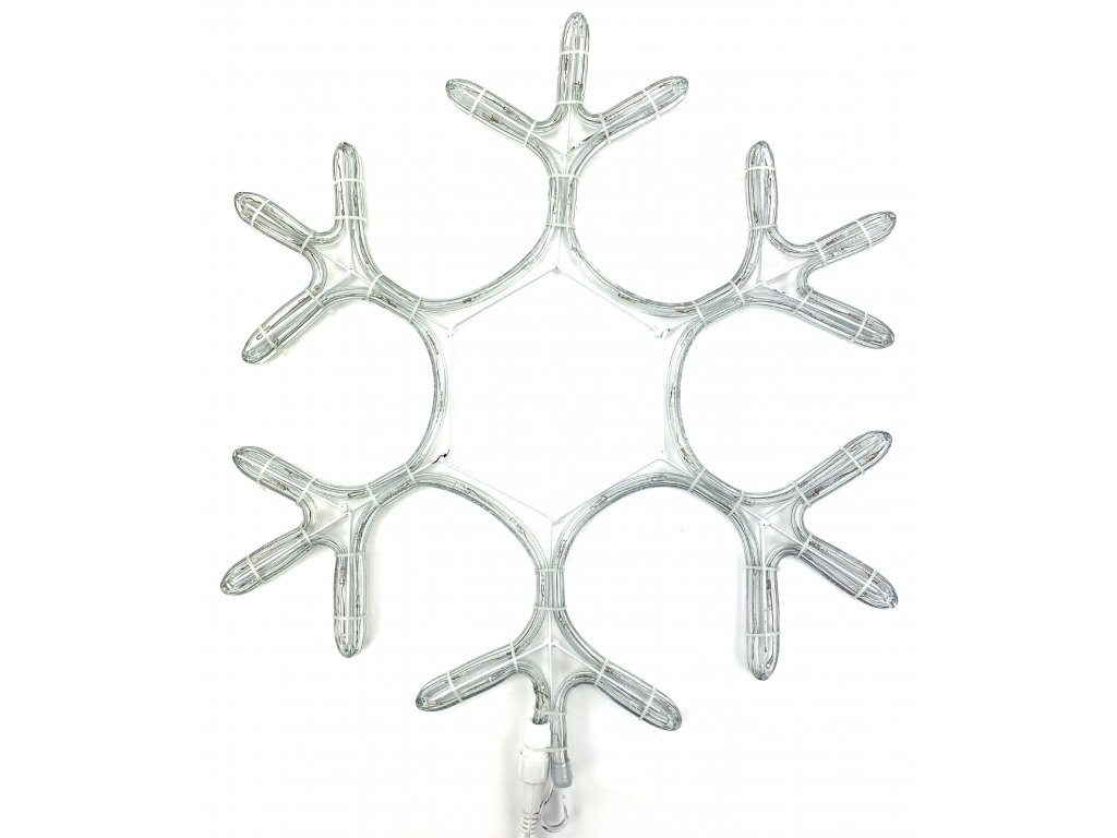 Vánoční LED dekorace - Vločka 39 cm (SVÍTÍCÍ)