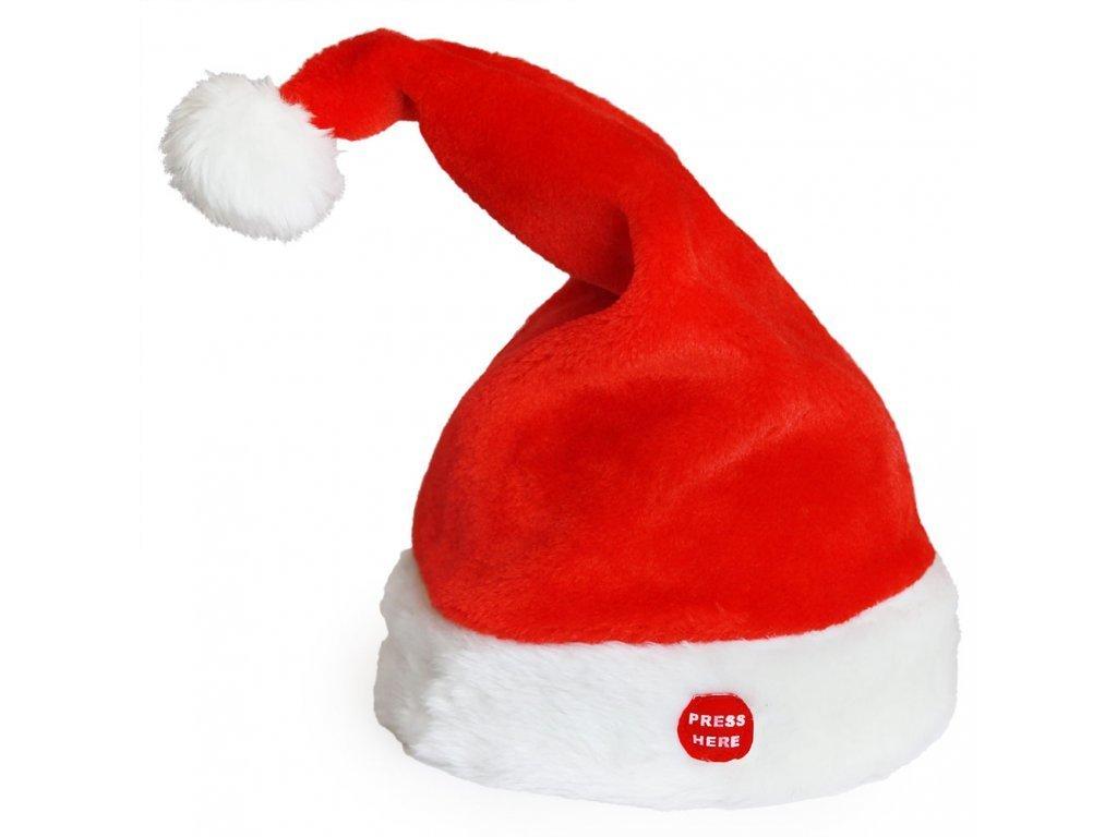 Hrající Santa Claus Čepice