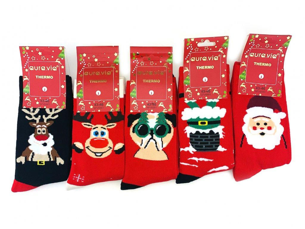 Vánoční termo ponožky - set (5ks)