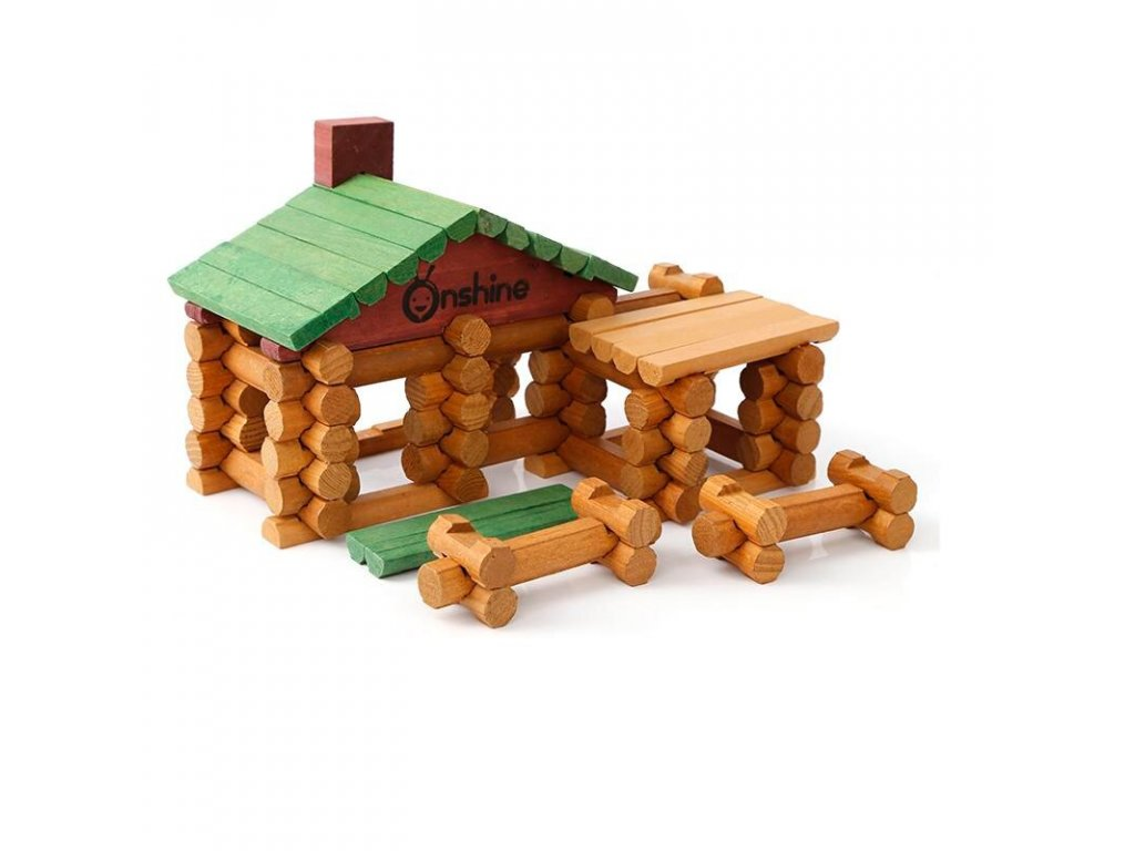 Onshine Brand 90pcs wooden forest log doll house Kids Child wood assemble villa educational toys free.jpg 960x960