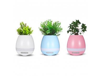 2017 New Smart Touch K3 Bluetooth Speaker Music Flowerpot Plant Colorful LED Night light Lamp Home
