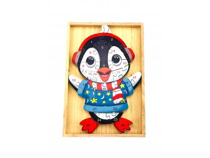 Vzdělávací puzzle - Tučňák
