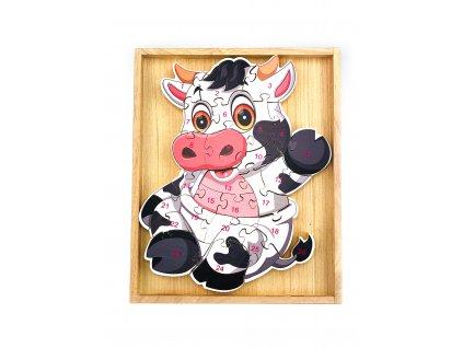 Vzdělávací puzzle - Kráva
