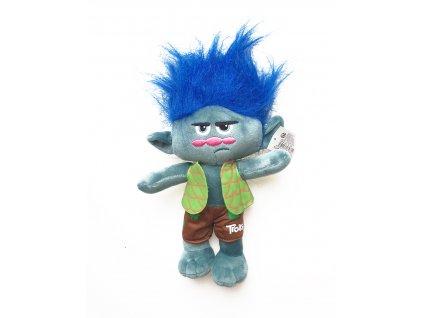49187 plysovy troll vetvik sedy
