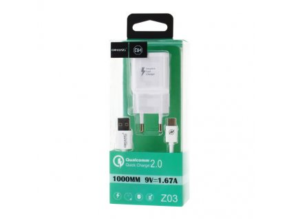 Z03 QC2 0 1m Fast Charger with Type C Cable