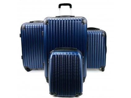 132590 cestovni skorepinovy kufr modry sada 4 ks