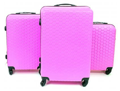 134468 1 cestovni skorepinovy kufr ruzovy sada 3 ks
