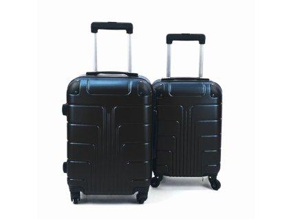 Cestovní Skořepinový Kufr - Černý (velikost S a XS)