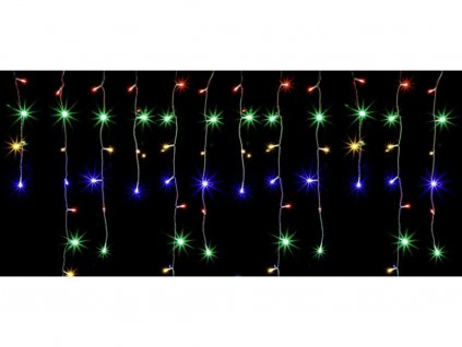 Vnitřní vánoční LED závěs - barevný 105diod