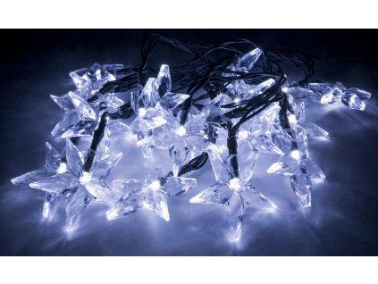 Vánoční světelný řetěz ve tvaru hvězdy - 4 barvy