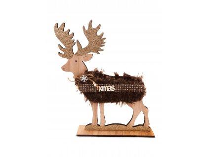 Dřevěná  dekorace - Sob XMAS (35 cm)