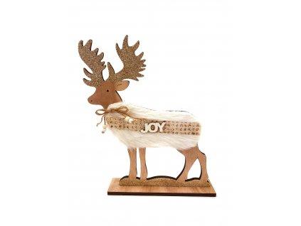 Dřevěná dekorace - Sob JOY (27 cm)