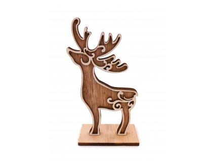 Dřevěná vánoční dekorace - Sob (15 cm)