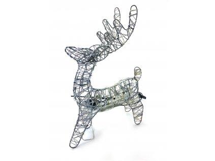 Svítící vánoční dekorace Sob - studená bílá (35 cm)