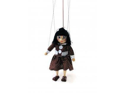 Dřevěná loutka - Bábinka Kateřina (22 cm)