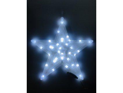 Svítící LED hvězda - studená bílá (40 cm)
