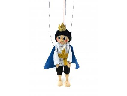 Dřevěná loutka - Princ (22 cm)