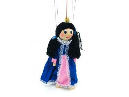 Dřevěná loutka - Princezna černovláska (22 cm)