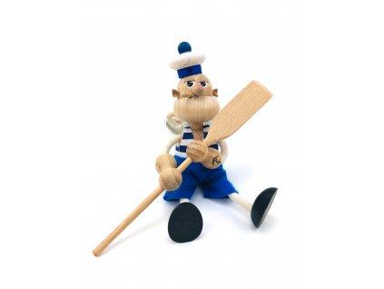 Dřevěná loutka na pružině - Pepek Námořník