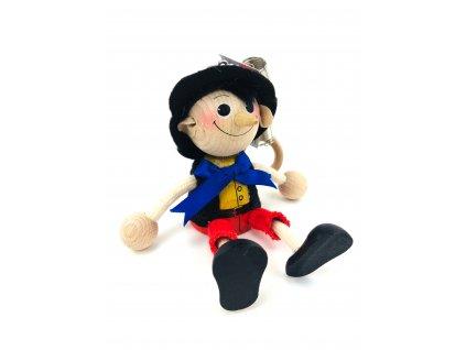 Dřevěná loutka na pružině - Pinocchio