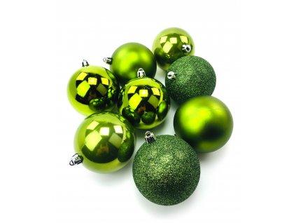 Vánoční koule ZELENÉ - různé velikosti