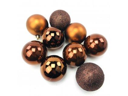 Vánoční koule HNĚDÉ - různé velikosti