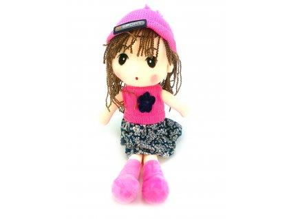 Plyšová panenka s pletenou čepicí (50 cm)