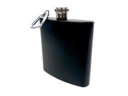 placatka s karabinou matna 180 ml cerna 7189783