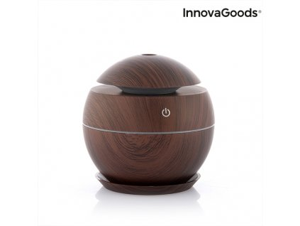 zvlhcovac zvlhcovace mini aroma diffuser dark walnut innovagoods 93651 (2)