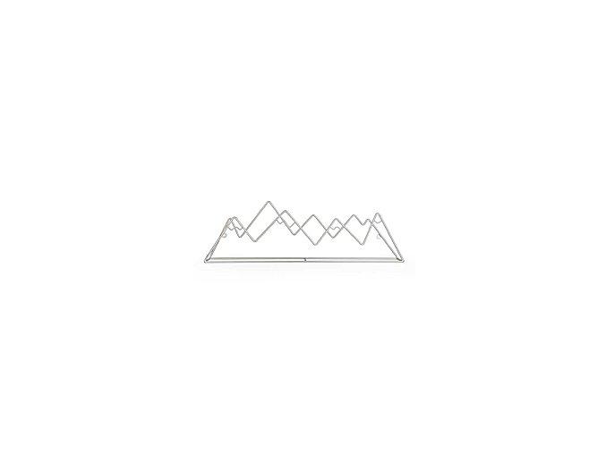 Věšák BALVI Mountain, stříbrný