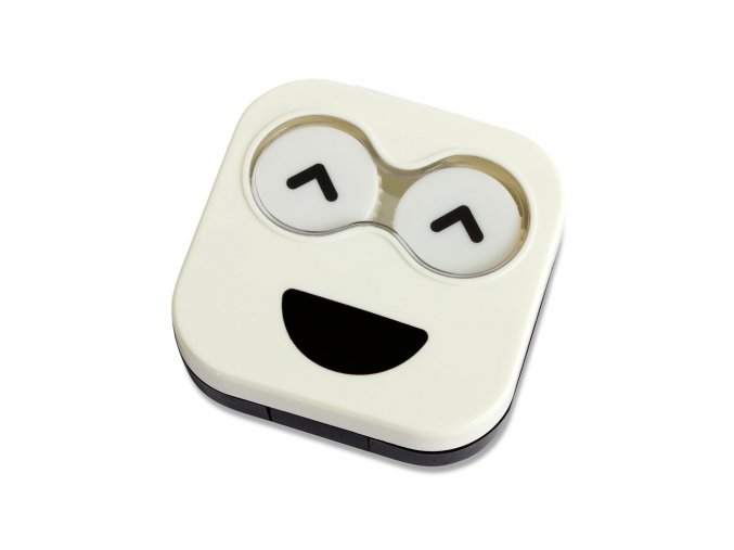 BALVI Pouzdro na čočky Emoji, bílé